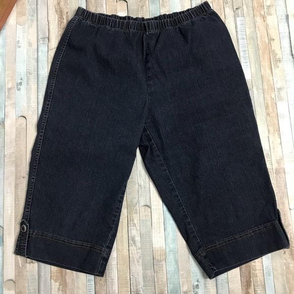 46f0d177 Just My Size Jeans | Pull On Jean Capri Elastic Waist Jms Stretch ...